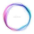 canvas print picture - Abstract circle lines round ring frame colorful light flowing isolated on white background with empty space for text.