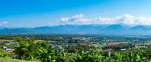 View Of Pai City, Mae Hong Son, Thailand.