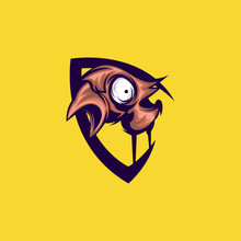 Bird Monster Logo Vector