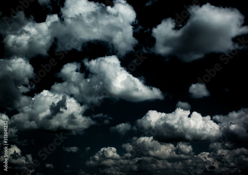 Fototapety, obrazy: Night cloudy sky