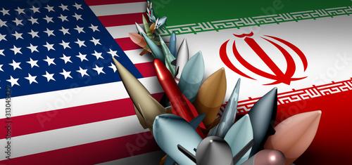 Obraz Iran US Military Crisis - fototapety do salonu