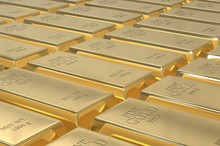 Stack Of Gold Bars, Weight Of ...