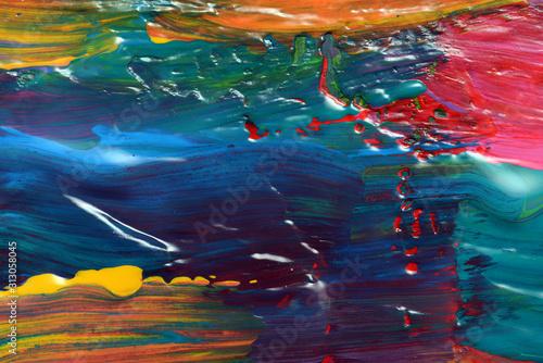 Obraz Abstrct art. Hand-painted background. SELF MADE - fototapety do salonu