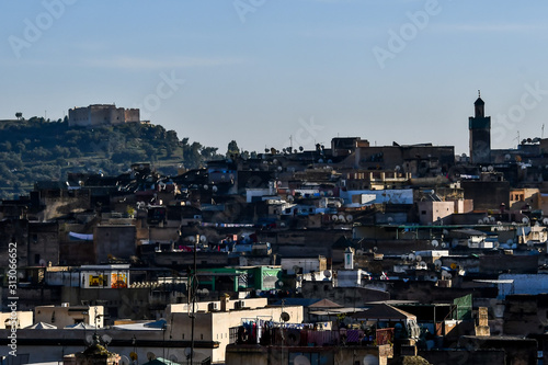 Cuadros en Lienzo  View of the city of fez fes in morocco north africa