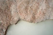 Texture Of White Travertinne C...