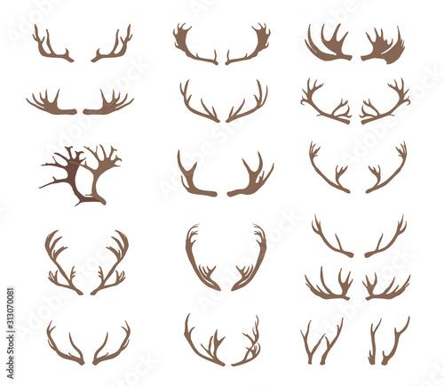 Stampa su Tela Set of deer antlers