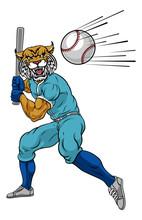 A Wildcat Baseball Player Cart...