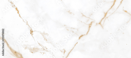 Fotografie, Tablou White Satvario Marble Texture Background With Curly Grey-Brown Colored Veins, It Can Be Used For Interior-Exterior Home Decoration and Ceramic Decorative Tile Surface, Wallpaper, Architectural Slab