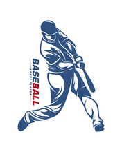 Baseball Player Vector Silhoue...