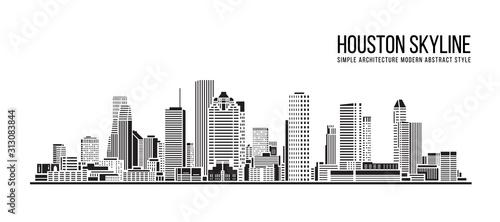 Valokuvatapetti Cityscape Building Simple architecture modern abstract style art Vector Illustra
