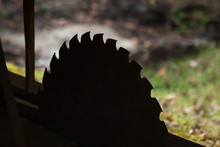 Round Saw Blade In Silhouette