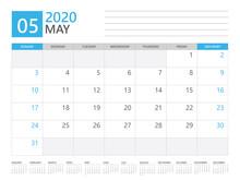MAY 2020 Calendar Planner Set ...