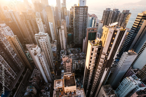 miasto-z-lotu-ptaka-hongkong-wiezowiec