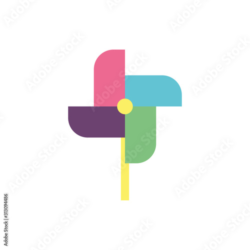 Valokuva  Isolated pinwheel toy vector design