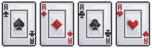 Pixel Art Playing Card, Spades...
