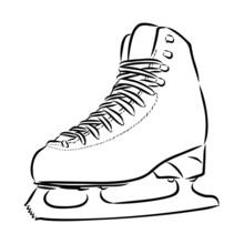Ice Skates Isolated On White B...