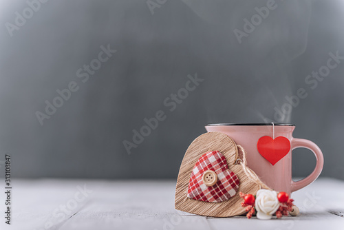 Obraz background concept for valentines day. place for text - fototapety do salonu