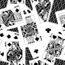 Playing Cards Seamless Pattern Background