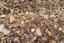 Pieces Of Concrete And Brick R...