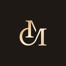 Vintage C And M Initial Gold M...