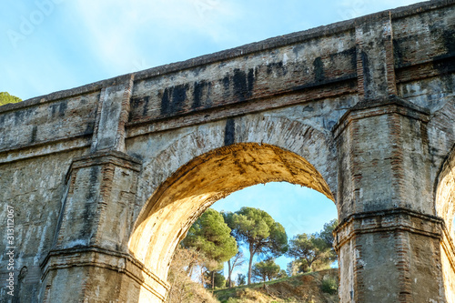 Aquaduct Arroyo de Don Ventura, Malaga province, Spain Canvas Print