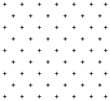 black and white fashion prints patterns made with '+' plus sign.seamless geometric monochrome cross pattern.Seamless crosses pattern