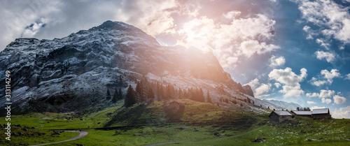 Fotografia Snow covered mountain Säntis in eastern Switzerland
