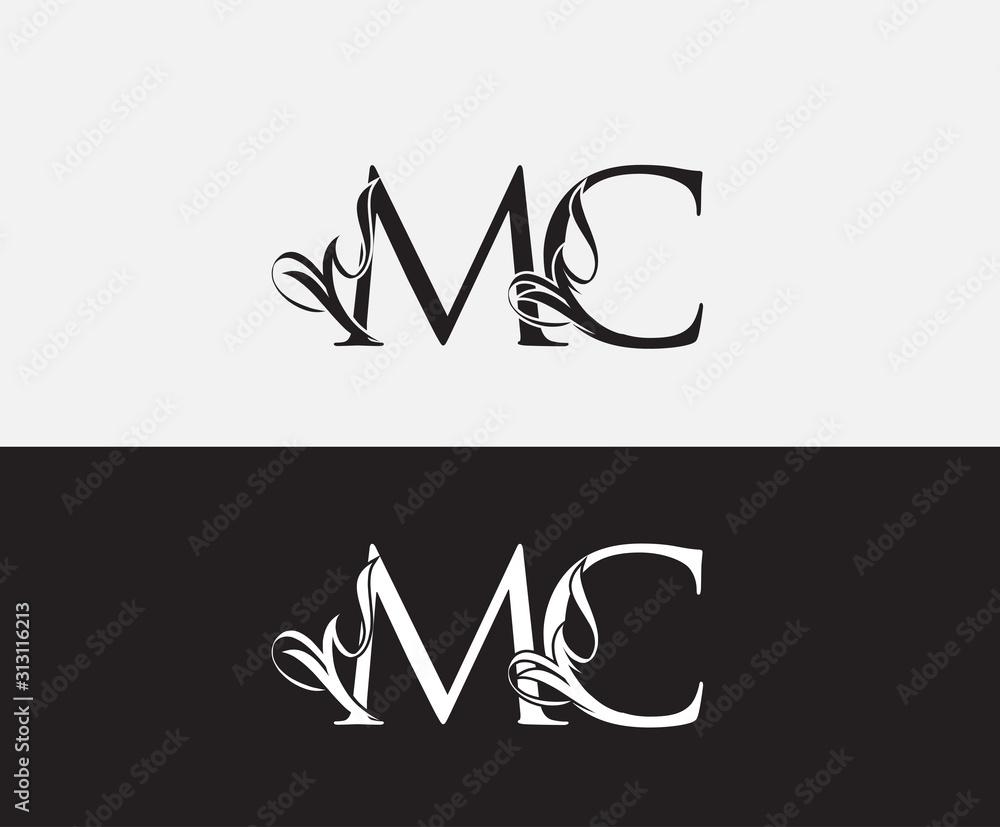 Fototapeta Classic M,C and MC Letter Luxury Logo Icon