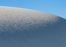 Ripples In The White Gypsum Sand Of White Sands National Park In New Mexico