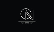 ON ,NO ,O ,N Letter Logo Design With Creative Modern Typography