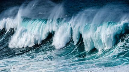 Fototapeta Nowoczesny big sea wave