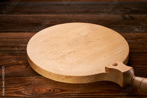 Fotografía Background with cutting board on wooden table Space of wooden top Wooden backgro