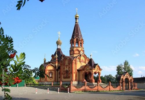 Cuadros en Lienzo Church of the great Martyr Catherine in the village of Srostki Altai territory i