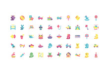 Isolated Toys Icon Set Vector ...