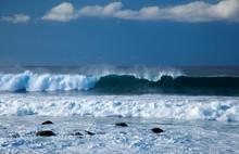 Powerful Waves Breaking