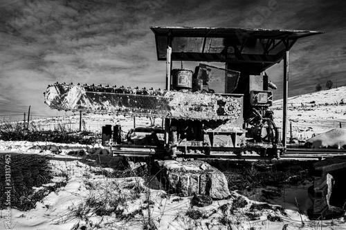 quarry machinery zero Canvas Print