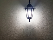 Lamp Post On A Wall