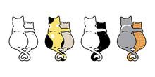Cat Vector Kitten Valentine Heart Calico Icon Logo Symbol Cartoon Character Illustration Doodle Design