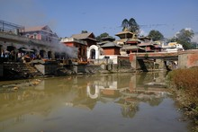 Pashupatinath Temple On Bank O...