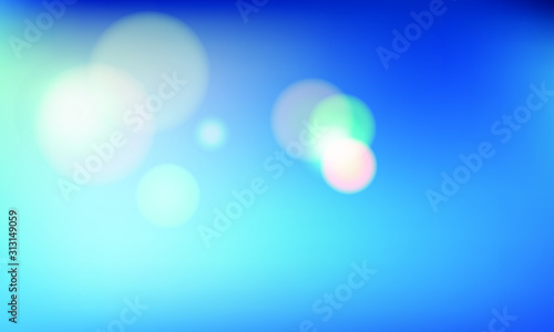 blue gradient  with orb vector background Canvas Print