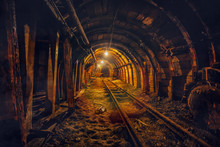 Underground Mining Tunnel With...