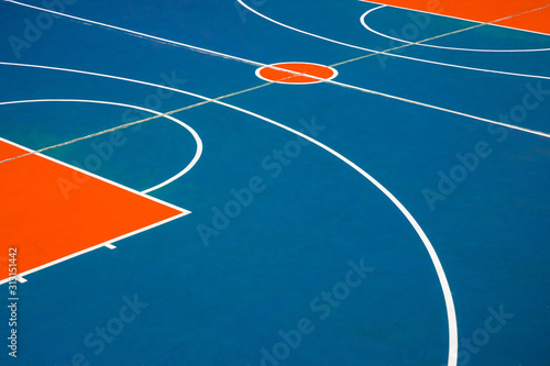 Obraz basketball court closeup, outdoor basketball field  - - fototapety do salonu