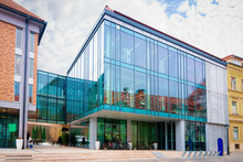 Modern Glass Library Building ...