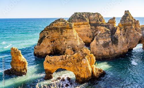 Fototapeta Ponta da Piedade in Lagos, Algarve, Portugal obraz