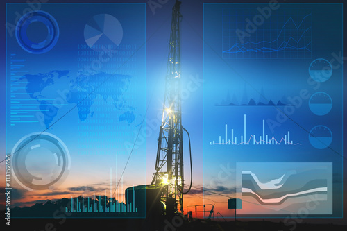 automation of oil and gas production to prevent accidental drilling of wells Wallpaper Mural