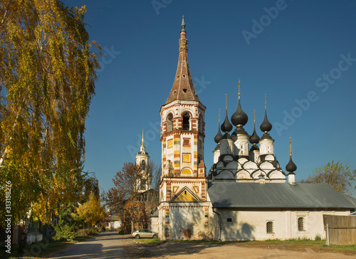 Church of Antipas (Antipiyevskaya) of Pergamum and church of Saint Lazarus (Lazarevskaya) at Suzdal Canvas Print