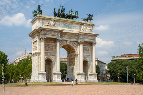 Photographie  Arch of peace, Milan