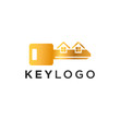 Key Logo Template Design Vector Illustration