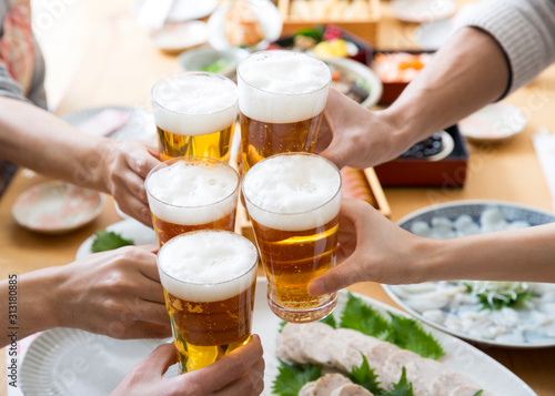 Fotomural  ビールで乾杯