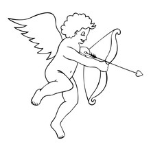 God Of Love. Cupid. Kid With W...